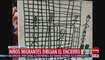 Foto: Niños Migrantes Dibujan Maltratos Centros Detención 3 Julio 2019
