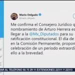 FOTO: Nombramiento de Herrera está por ser ratificado: Mario Delgado