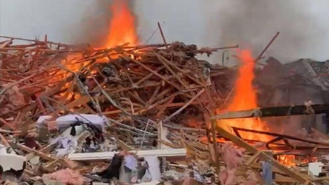Foto: La explosión provocó un incendio en la casa. El 18 de julio de 2019