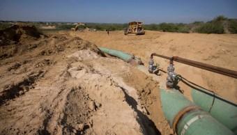 Foto: Oleoducto que transporta gas desde Texas a México, 7 de septiembre de 2014, Estados Unidos
