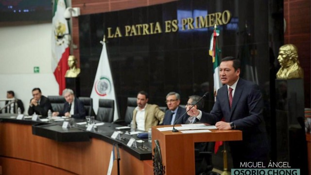 Foto: Miguel Ángel Osorio Chong, 9 de julio 2019. Twitter @osoriochong