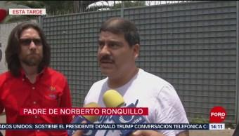 FOTO: Padre de Norberto Ronquillo confía en autoridades de la CDMX