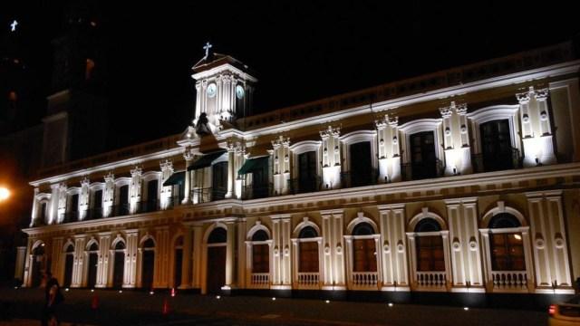 Foto: Fachada del Palacio de Gobierno de la ciudad de Colima, 10 junio 2019