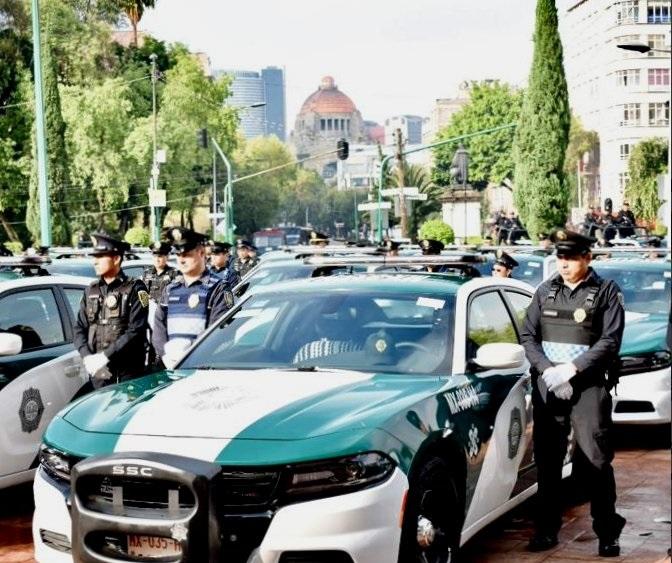 Foto: entrega de patrullas en la alcaldía Cuauhtémoc, 12 de junio 2019. Twitter @SSP_CDMX