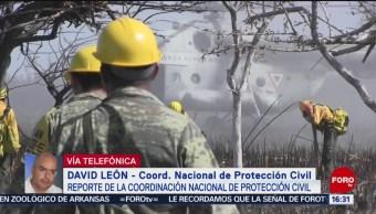 FOTO: PC combate seis incendios forestales México