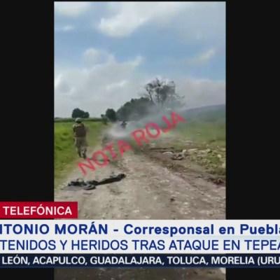 Pobladores agreden a Guardia Nacional en Puebla