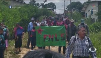 Continúan exigencias por policías secuestrados, en Chiapas