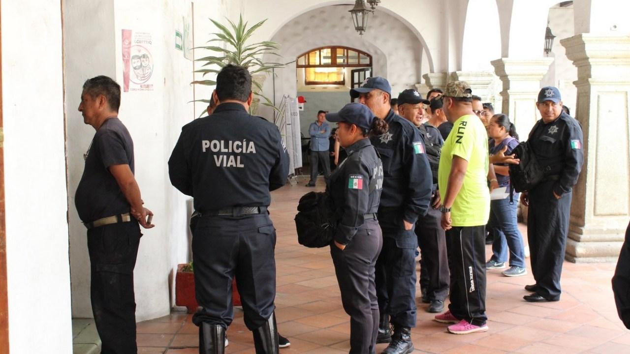 Policías de Oaxaca