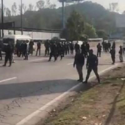 Policías federales realizan nuevo bloqueo en la México-Pachuca