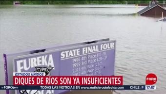 Precipitaciones rebasan capacidad de diques en Estados Unidos