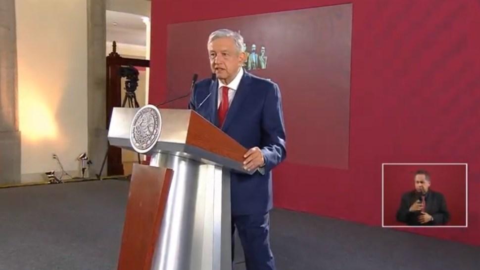 Foto: López Obrador en conferencia de prensa, 22 de julio de 2019, Ciudad de México