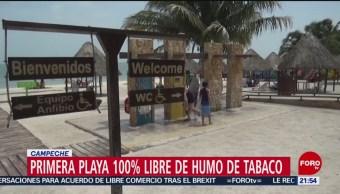 FOTO: Primera playa 100% libre de humo de tabaco en Campeche, 28 Julio 2019