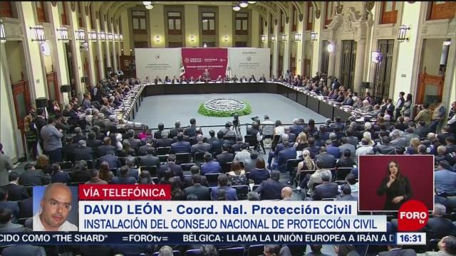 Foto: Realizan instalación del Consejo Nacional de Protección Civil