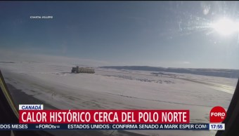 Récord de calor cerca del Polo Norte