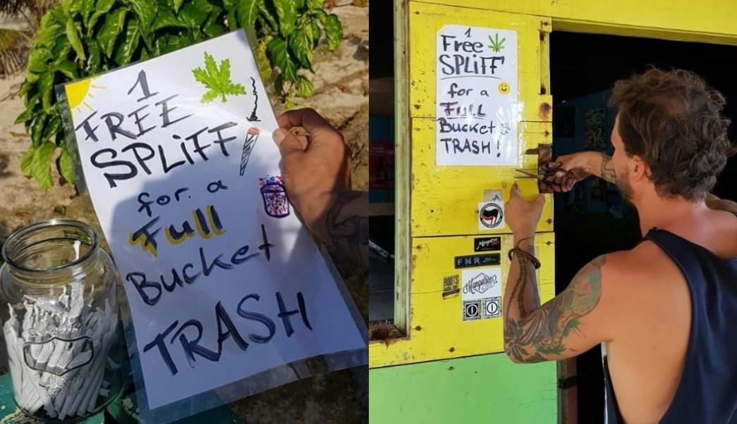 regala-cigarros-de-marihuana-a-turistas-que-recojan-basura