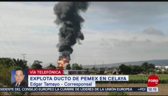 Reportan heridos y muertos por explosión de ducto en Celaya