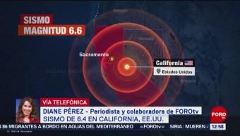 Reportan sismo de magnitud 6.4 en California, Estados Unidos