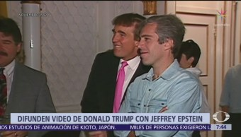 Revelan video del multimillonario Jeffrey Epstein con Trump