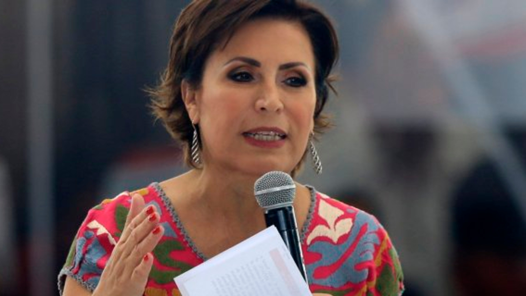FOTO Rosario Robles confirma citatorio en juzgado, pero desconoce hechos que le imputan (Noticieros Televisa)
