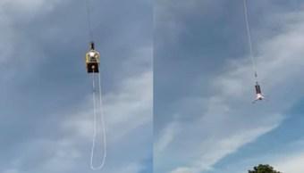 Foto Sobrevive a caída de 'bungee' de 92 metros 26 julio 2019