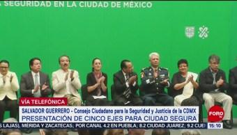 Salvador Guerrero habla de la estrategia de seguridad en la CDMX