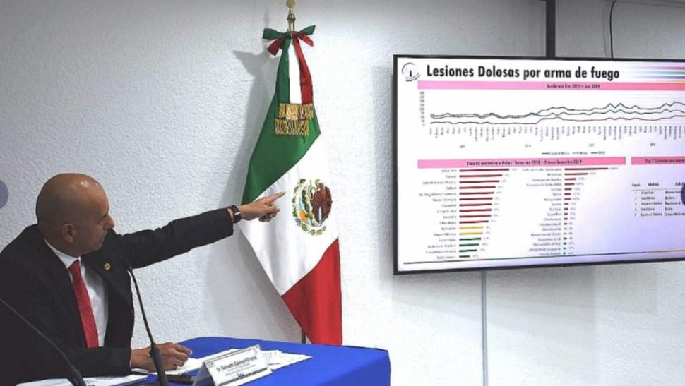 Foto: Salvador Guerrero informó que la extorsión aumentó 30 por ciento, 22 de julio de 2019 (Twitter@elconsejomx)