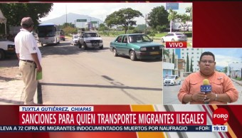 Foto: Sanciones Transporte Migrantes Ilegales Chiapas 12 Julio 2019