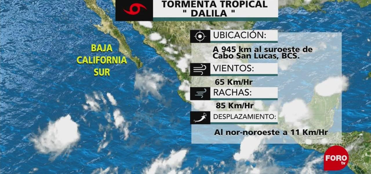 Se forma la tormenta tropical Dalila al suroeste de las costas de BCS