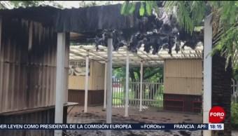 Se incendian instalaciones de la Universidad Benito Juárez, de Oaxaca