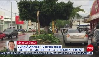 FOTO: Se registran fuertes lluvias en Tuxtla Gutiérrez, Chiapas, 21 Julio 2019