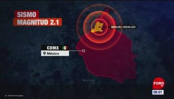 Se registran tres sismos en la Ciudad de México