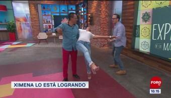 Segunda clase de baile para Ximena Cervantes