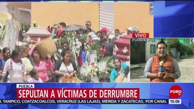 FOTO: Sepultan a víctimas del deslave en Santo Tomás Chautla, Puebla, 13 Julio 2019