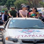 Foto Sheinbaum recorre con Guardia Nacional Iztapalapa 4 julio 2019