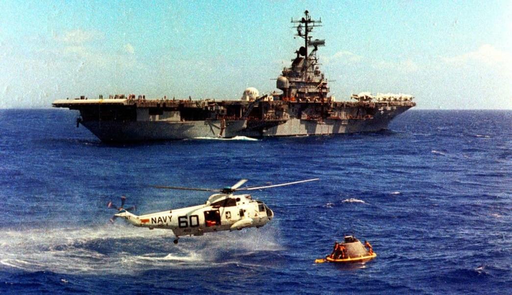 FOTO Nave de Apollo 11 pudo ser destruida por tormenta en su regreso a Tierra (US Navy/Washington Post