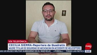 Sin recuperar cuerpos de funcionarios en desplome de helicóptero en Michoacán