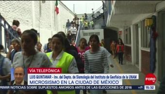 Sismicidad en la CDMX no es extraordinaria: Luis Quintanar