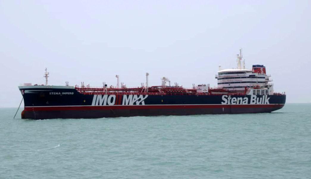 Foto: Buque petrolero Stena Impero, de bandera británica, 20 julio 2019