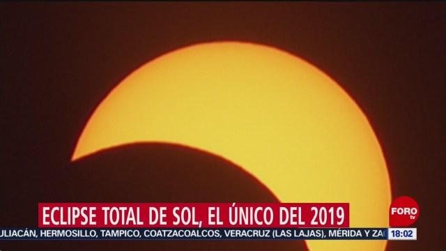 FOTO: Sudamérica disfruta del único eclipse solar de 2019