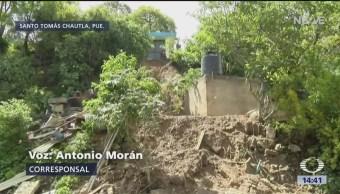 FOTO: Suman siete muertos tras deslave en Santo Tomás Chautla, Puebla