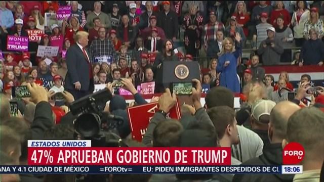 FOTO: Tasa de aprobación de Trump sube hasta 47%, 7 Julio 2019