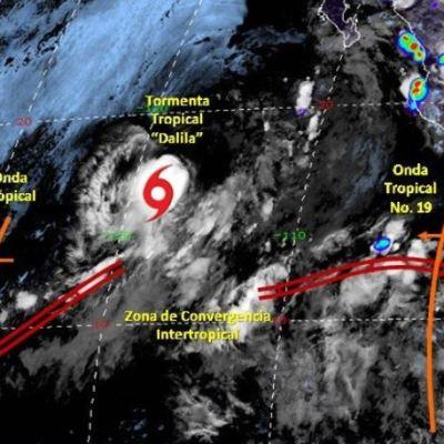 Se forma la tormenta tropical 'Dalila' al suroeste de las costas de BCS