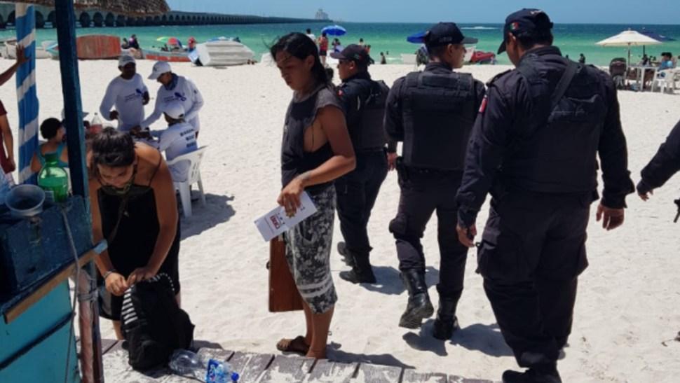 Foto: Más de mil elementos de seguridad federal, estatal y municipal de Yucatán resguardan a los visitantes, 21 de julio de 2019 (Twitter @sspyuc)