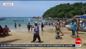 FOTO:Turistas llenan las playas de Puerto Escondido en Oaxaca, 14 Julio 2019