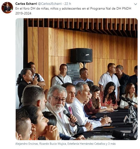 Foto Último tuit del doctor Carlos Echarri 11 julio 2019