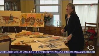 Una de las dibujantes de 'El Chapo' durante juicio