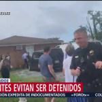 Foto: Cadena Humana Nashville Arresto Migrante Estados Unidos 23 Julio 2019