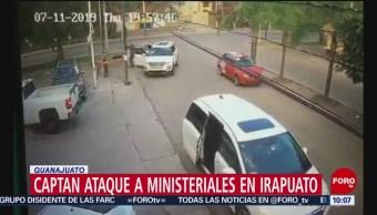 FOTO: Video: Cámaras graban agresión contra agentes de la Fiscalía de Guanajuato, 13 Julio 2019