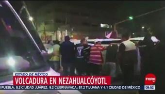 FOTO: Volcadura en Nezahualcóyotl, Estado de México, 7 Julio 2019