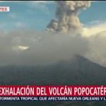 FOTO. Volcán Popocatépetl emite exhalación con contenido de ceniza